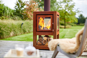Quaruba Large mobile Outdoor Wood Stove