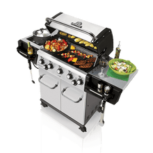 Load image into Gallery viewer, Broil King Regal S590 Infared BBQ Gas Side Top Open Lid Utensils Storage