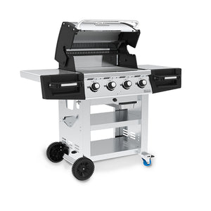 Broil King Regal S420 BBQ Gas Open Lid Side View