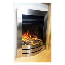 Load image into Gallery viewer, Evonic Staton Electric Fire Ceramic Log Set Satin Stainless Finish