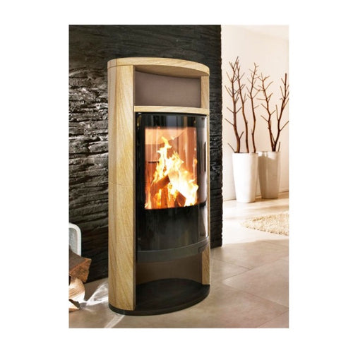 Sino L Sandstein Caramello Freestanding Wood Burning Stove Curve Finish