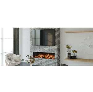 Evonic Valter Full Glass Panoramic View Electric Fireplace Wide Screen