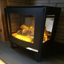 Load image into Gallery viewer, Vonic Banff3 Hot Ash Effect Side View of Acrylic Stove