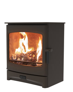 Charnwood Aire 7 Woodburning Stove Low Brown Colour