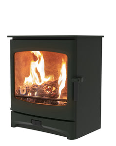 Charnwood Aire 7 Woodburning Stove Low Green Colour