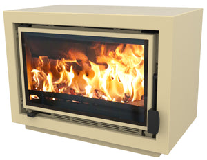 Bay BX Eco Design Wood Burning Fire Almond