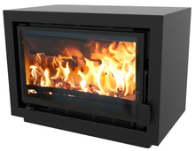Load image into Gallery viewer, Bay BX Eco Design Wood Burning Fire Black