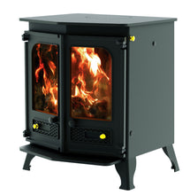 Load image into Gallery viewer, Charnwood Country 8 Wood Burning Fire Freestanding Double Twin Door Blue