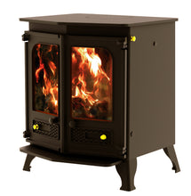 Load image into Gallery viewer, Charnwood Country 8 Wood Burning Fire Freestanding Double Twin Door Brown