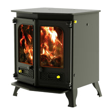 Load image into Gallery viewer, Charnwood Country 8 Wood Burning Fire Freestanding Double Twin Door Gunmetal