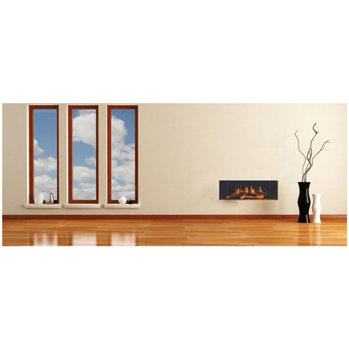 Evonic e700s Widescreen Electric Fire Living Room with Wooden Floors