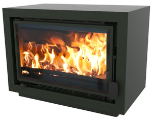 Bay BX Eco Design Wood Burning Fire Green