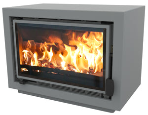 Bay BX Eco Design Wood Burning Fire Pewter
