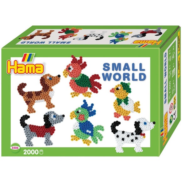 Hama Beads Small World Parrot and Dog Set
