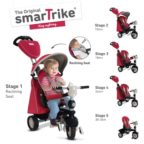 Smart Trike Recliner Infinity in Red