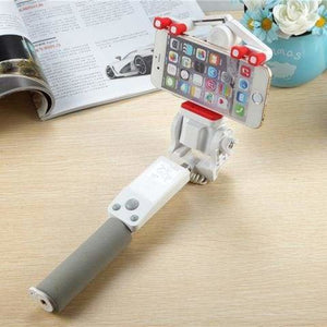 360 Rotation Selfie Stick - White - Selfie Sticks