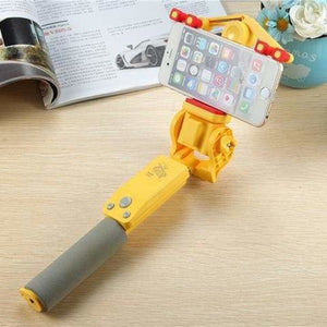 360 Rotation Selfie Stick - Yellow - Selfie Sticks