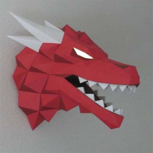 3d paper wolf head model toy - puzzles - 3d-paper-wolf-head-model-toy