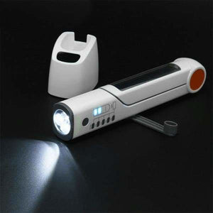 8 in 1 Hand-Crank Solar LED Lamp - Flashlights & Torches