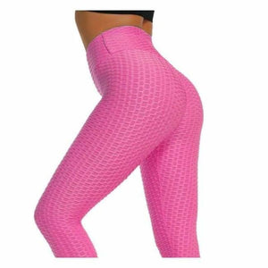 Anti-Cellulite Compression High Waist Leggings - Pants & Capris - rose red / S - anti-cellulite-compression-high-waist-leggings
