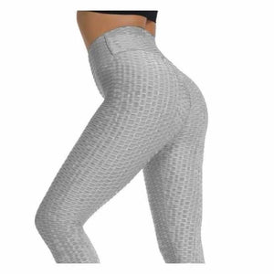 Anti-Cellulite Compression High Waist Leggings - Pants & Capris - Gray / S - anti-cellulite-compression-high-waist-leggings