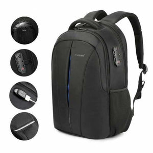 Anti theft backpack original - Backpacks - Black Blue upgrade -