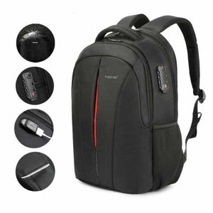 Anti theft backpack original - Backpacks - Black orange upgrade -