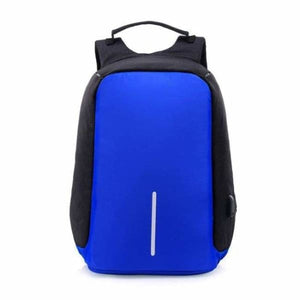 Anti-Theft USB Charging Backpack - deep blue - Backpacks