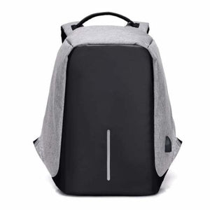 Anti-Theft USB Charging Backpack - grey - Backpacks