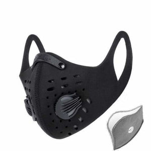 Antiviral Coronavirus Anti Pollution Face Mask - Cycling Face Mask - A Style Black - face-anti-dust-pollution-cycling-mask