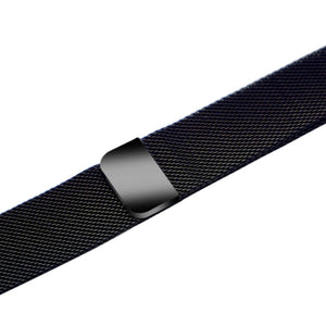 Apple iWatch Strap band in Milanese Steel - black / 42mm 44mm - Watchbands