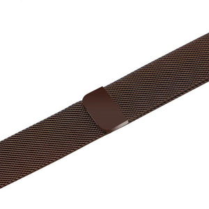 Apple iWatch Strap band in Milanese Steel - coffee / 38mm 40mm - Watchbands