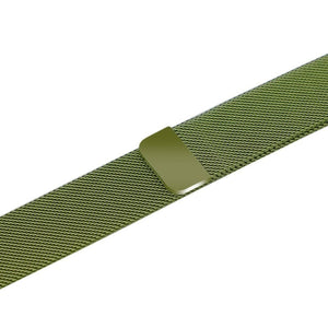 Apple iWatch Strap band in Milanese Steel - Green / 38mm 40mm - Watchbands