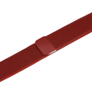 Apple iWatch Strap band in Milanese Steel - red / 38mm 40mm - Watchbands