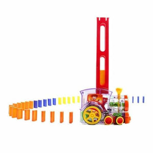 Automatic Domino Brick Laying Toy Train - Party DIY Decorations
