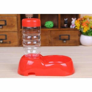 Automatic Water Dispenser & Feeder - Red - Cat Feeding & Watering Supplies