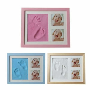 Baby Hand & Foot Mold with Picture Frame - Hand & Footprint Makers