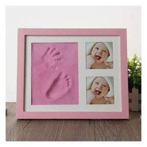 Baby Hand & Foot Mold with Picture Frame - Pink - Hand & Footprint Makers