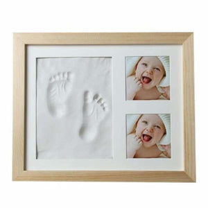 Baby Hand & Foot Mold with Picture Frame - White - Hand & Footprint Makers