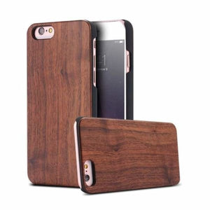 Bamboo Wood iPhone Case - Black Walnut / For iPhone X - Fitted Cases