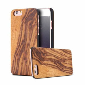 Bamboo Wood iPhone Case - Zebra Wood / For iPhone X - Fitted Cases