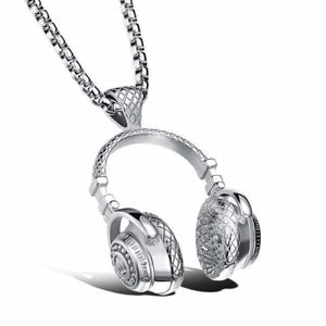Beat Headphones Necklaces - Unisex - silver - Pendant Necklaces