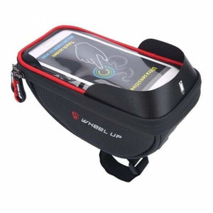 Bicycle Phone Holder & Storage - Black red - Bicycle Bags & Panniers