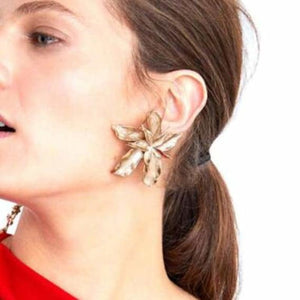 Big Flower Earring for Women - Drop Earrings - docona-elegance-silver-gold-big-drop-dangle-earring-for-women