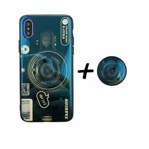 Camera Case For iPhone - Blue Case Holder / For iPhone 6 6S - Fitted Cases