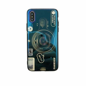 Camera Case For iPhone - Blue Case Only / For iPhone 6 6S - Fitted Cases