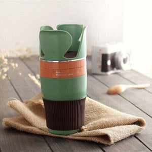 Car Cup Organizer - Stowing Tidying - Green - car-cup-organizer