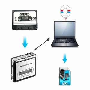 Cassette To MP3 Music Converter - Cassette Recorder & Player - portable-cassette-to-mp3-music-converter