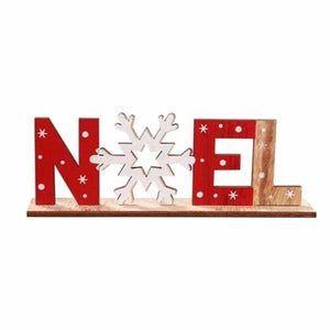 Christmas Decoration Gifts - Pendant & Drop Ornaments - NOEL Wooden Santa - christmas-decoration-ornament