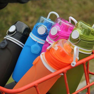 Collapsible Silicone Water Bottle - Water Bottles -
